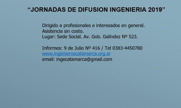 """JORNADAS DE DIFUSION INGENIERIA 2019"""
